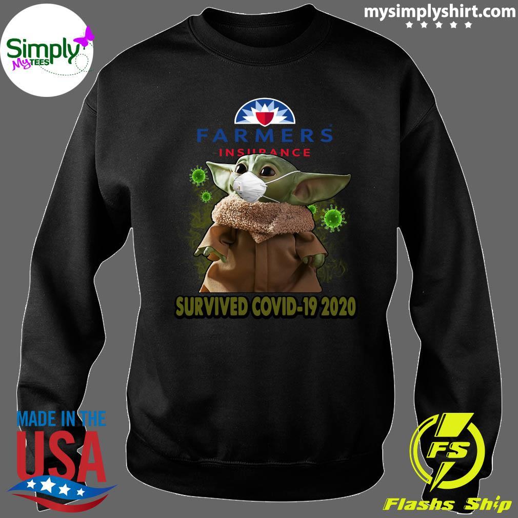 Baby Yoda Farmers Insurance Survived Covid 19 2020 Shirt Sweater