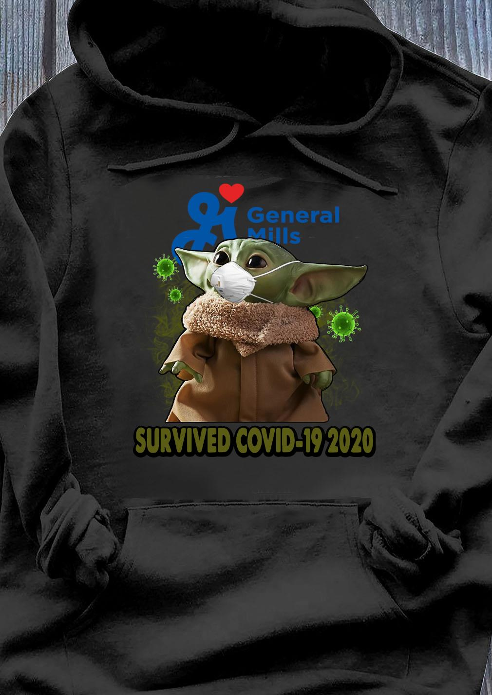 Baby Yoda General Mills Survived Covid 19 2020 Shirt Hoodie