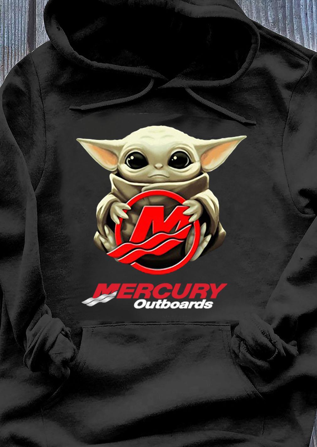 Baby Yoda Hug Mercury Outboards Shirt Hoodie
