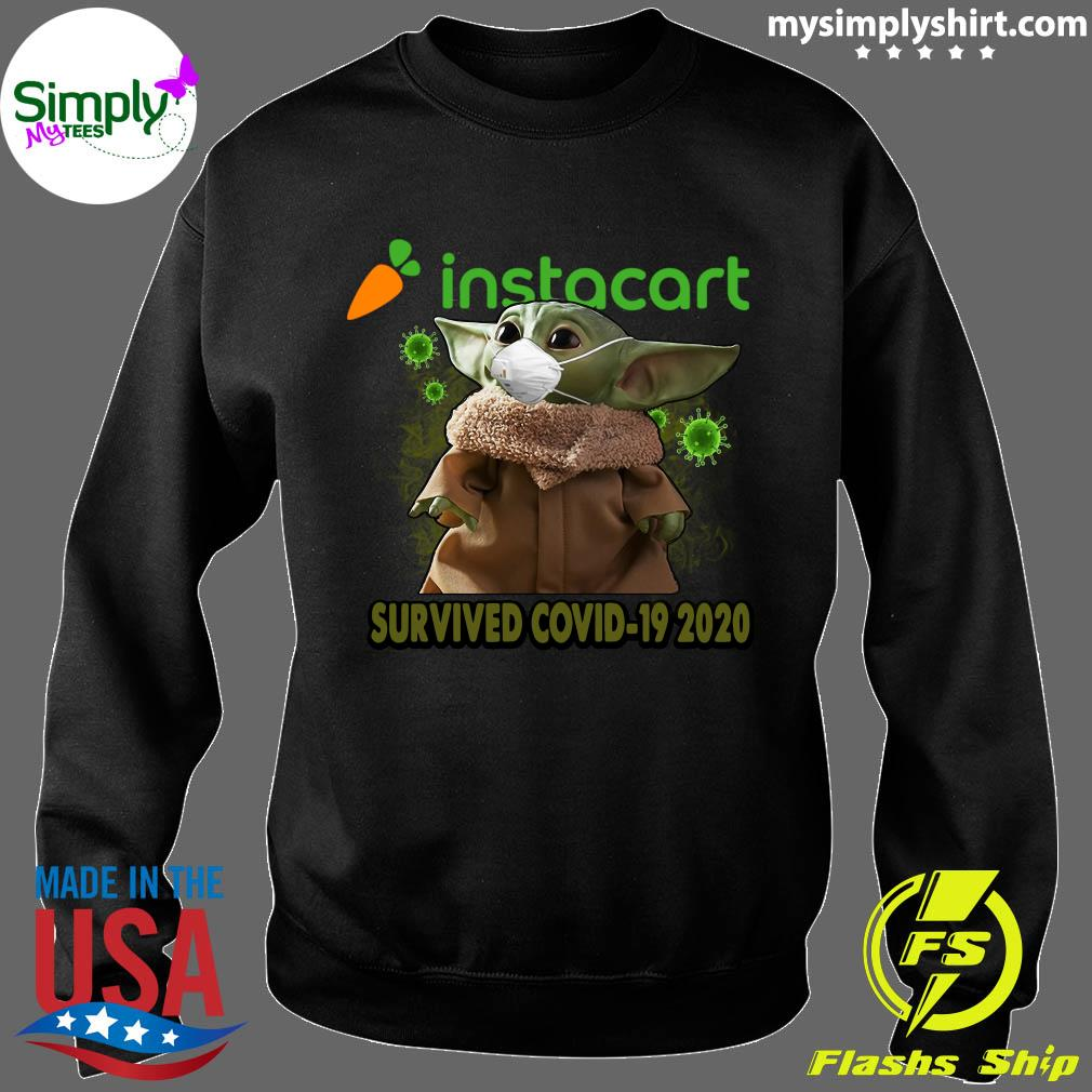 Baby Yoda Instacart Survived Covid 19 2020 Shirt Sweater