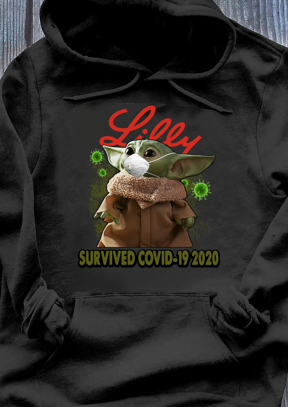 Baby Yoda Lilly Survived Covid 19 2020 Shirt Hoodie