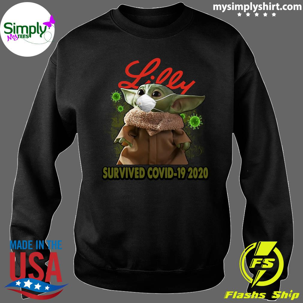 Baby Yoda Lilly Survived Covid 19 2020 Shirt Sweater