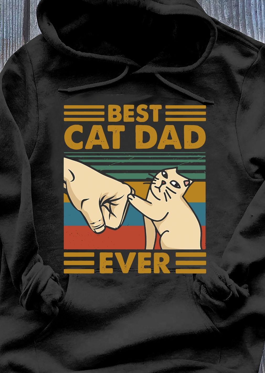 Best Cat Dad Ever Retro Vintage Shirt Hoodie