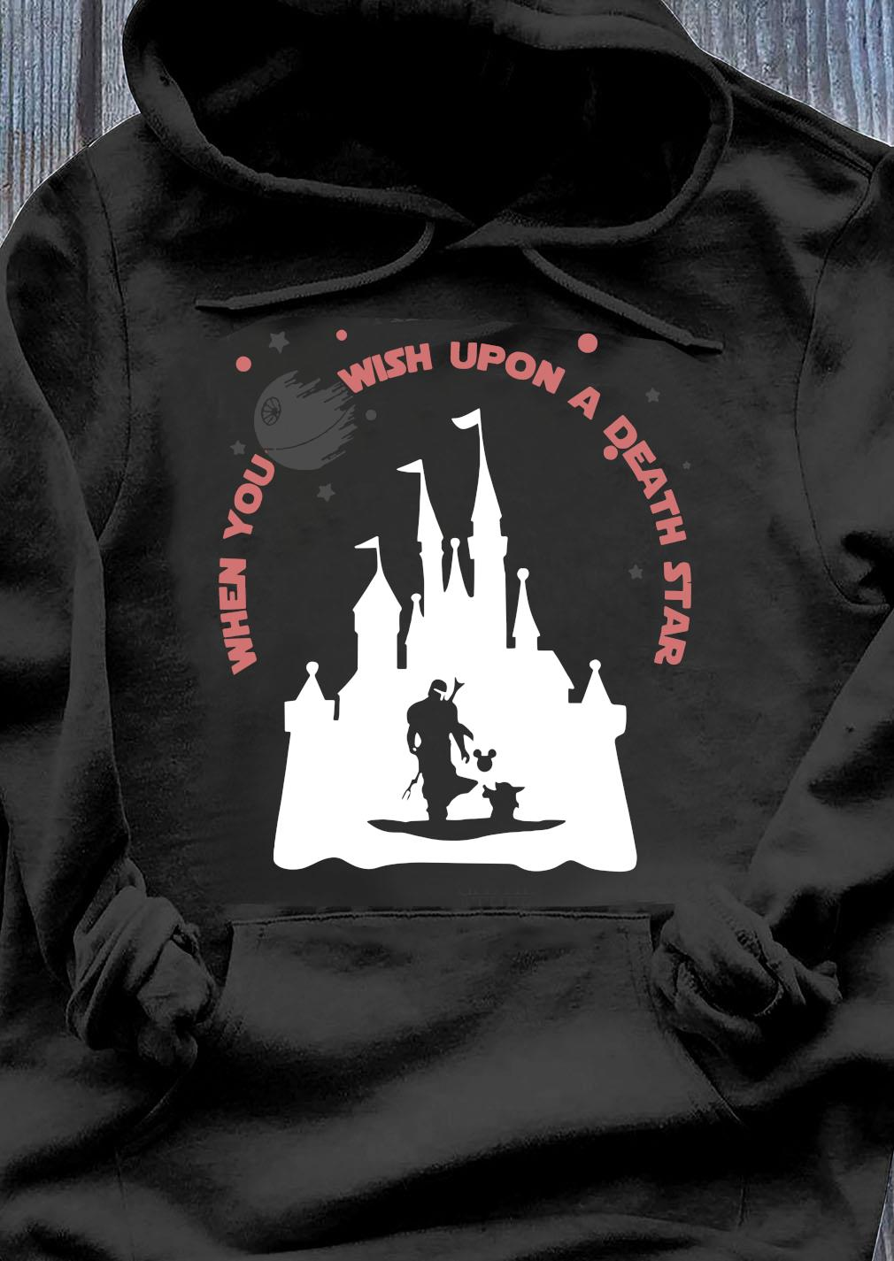 Darth Vader Mickey When You Wish Upon A Death Star Shirt Hoodie