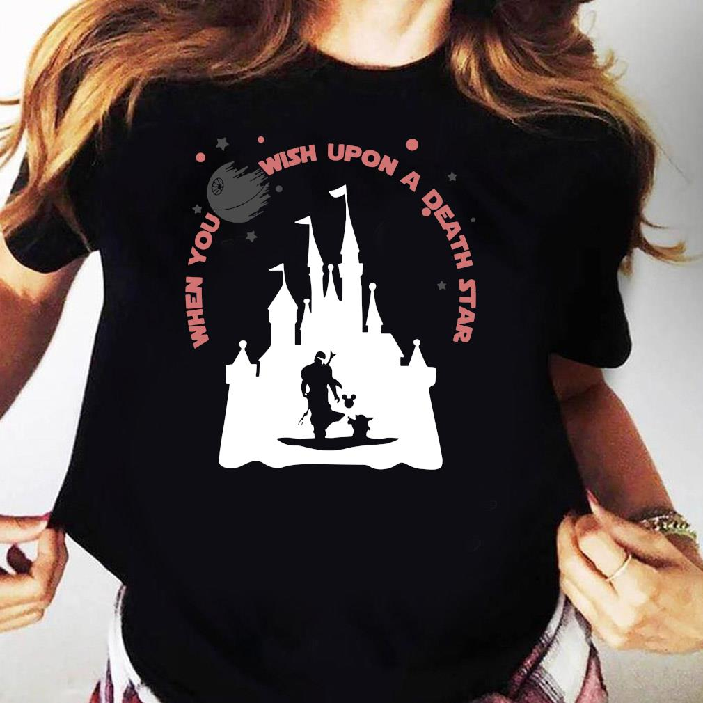 Darth Vader Mickey When You Wish Upon A Death Star Shirt Ladies tee