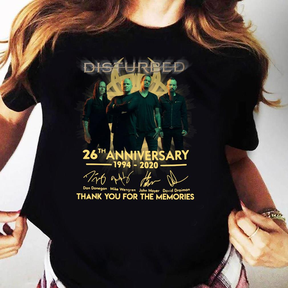 Disturbed 26th Anniversary 1994 2020 Thank You For The Memories Shirt Ladies tee