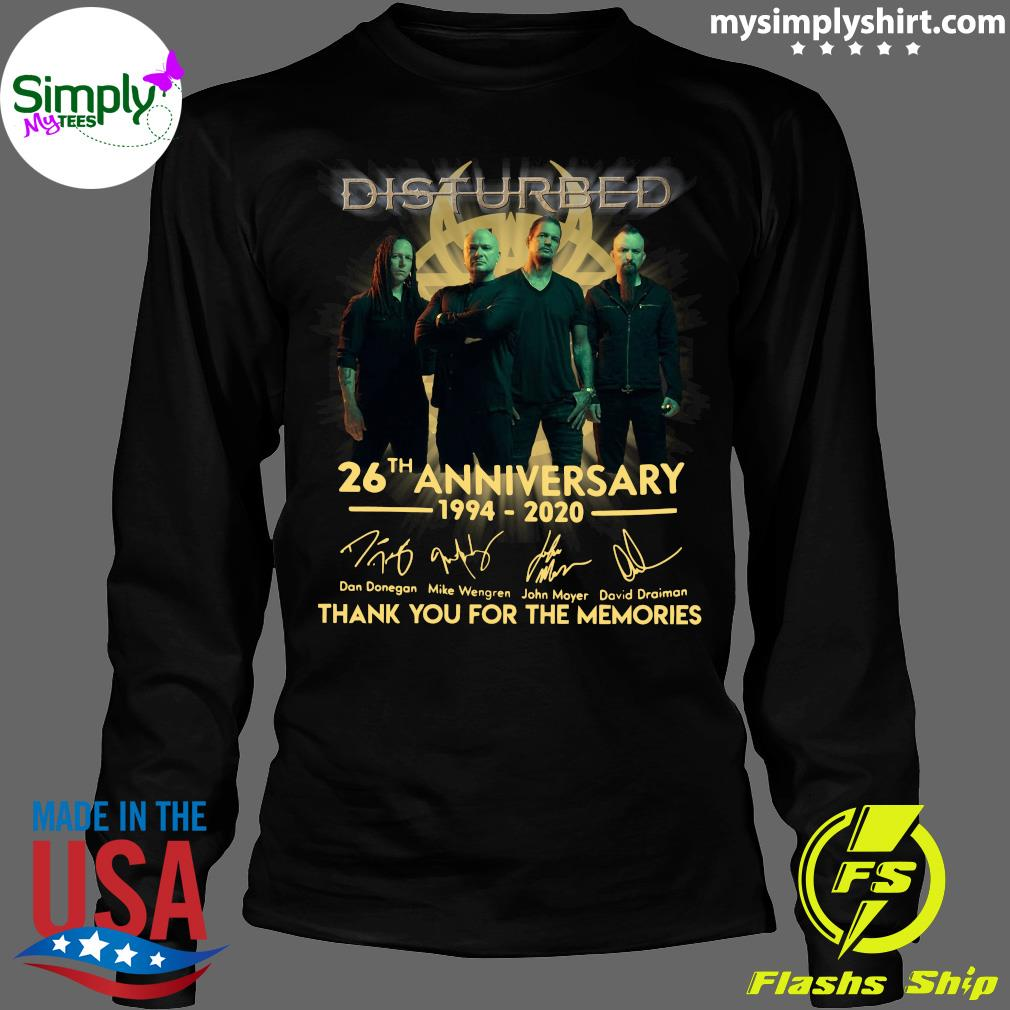 Disturbed 26th Anniversary 1994 2020 Thank You For The Memories Shirt Longsleeve