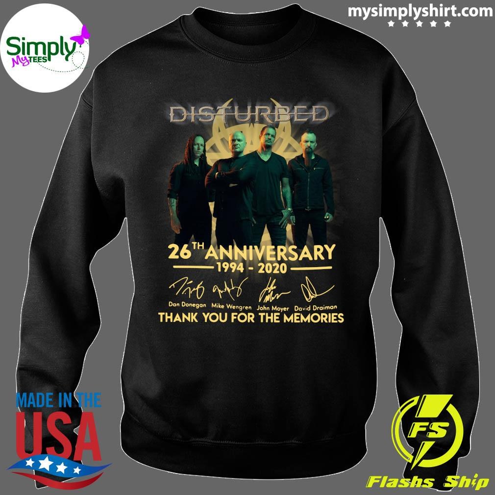 Disturbed 26th Anniversary 1994 2020 Thank You For The Memories Shirt Sweater