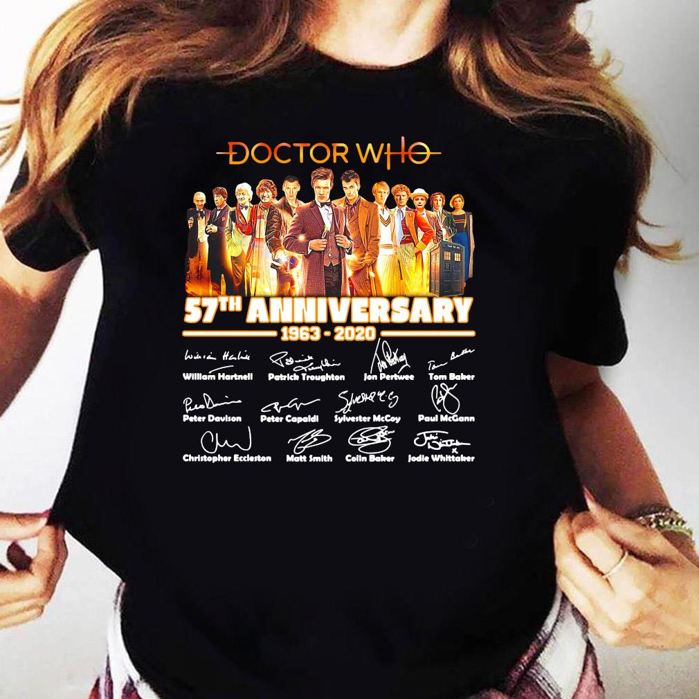 Doctor Who Tv Movies 57th Anniversary 1963-2020 Signature Shirt Ladies tee