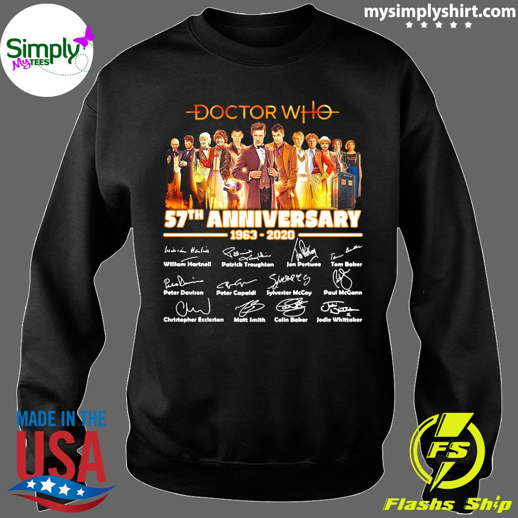 Doctor Who Tv Movies 57th Anniversary 1963-2020 Signature Shirt Sweater