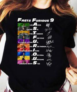 Fast & Furious Anniversary 9 Years Signature Shirt Ladies tee