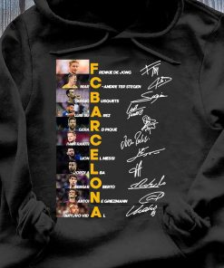 Fc Barcelona Frenkie De Jong Marc Andre Ter Stegen Sergio Busquets Signature Shirt Hoodie