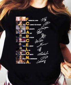 Fc Barcelona Frenkie De Jong Marc Andre Ter Stegen Sergio Busquets Signature Shirt Ladies tee