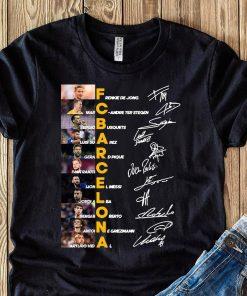Fc Barcelona Frenkie De Jong Marc Andre Ter Stegen Sergio Busquets Signature Shirt