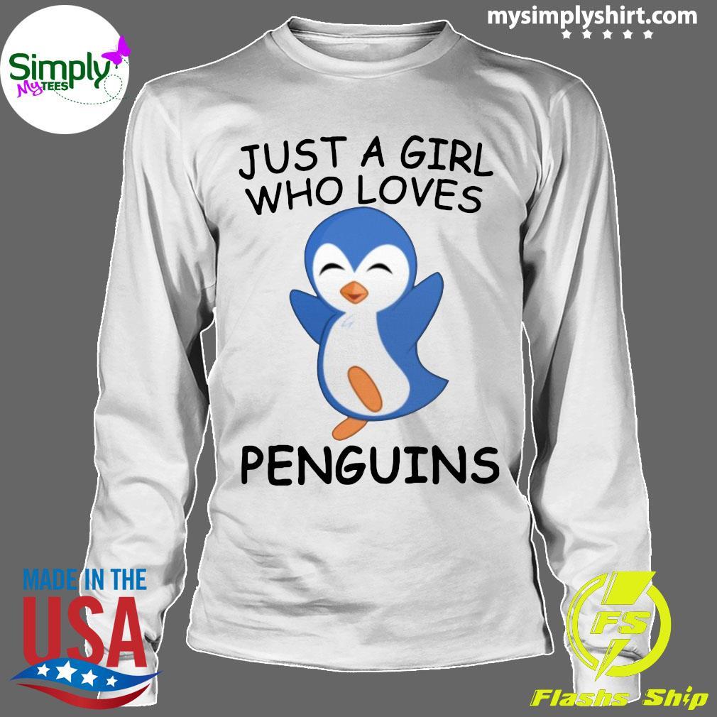 Just A Girl Who Loves Penguins Ladies Shirt Longsleeve