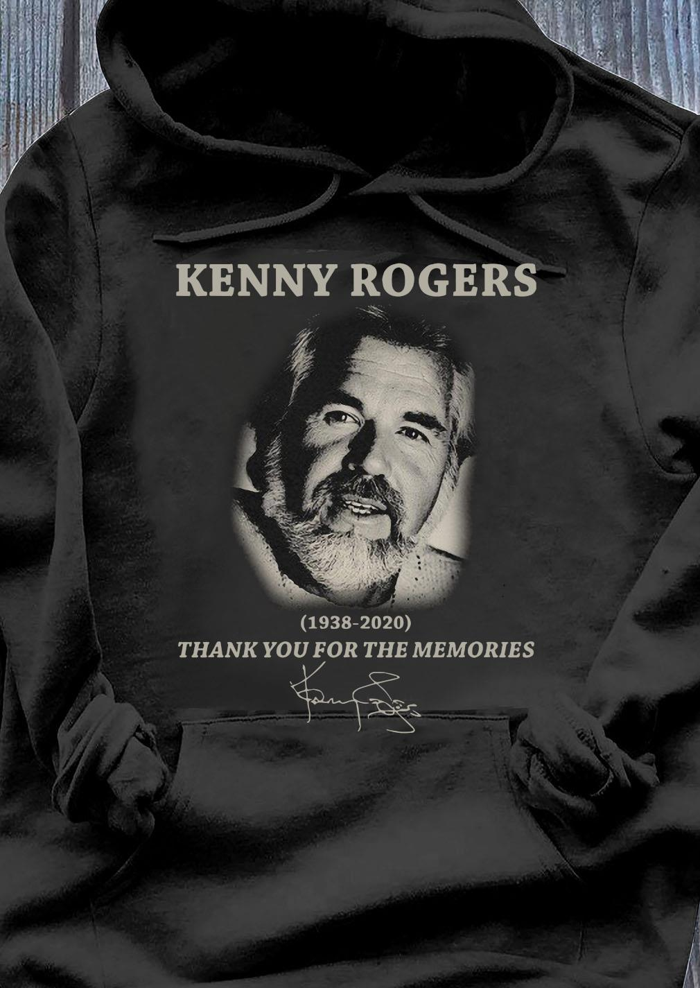 Kenny Rogers Thank You For The Memories Signatures Shirt Hoodie