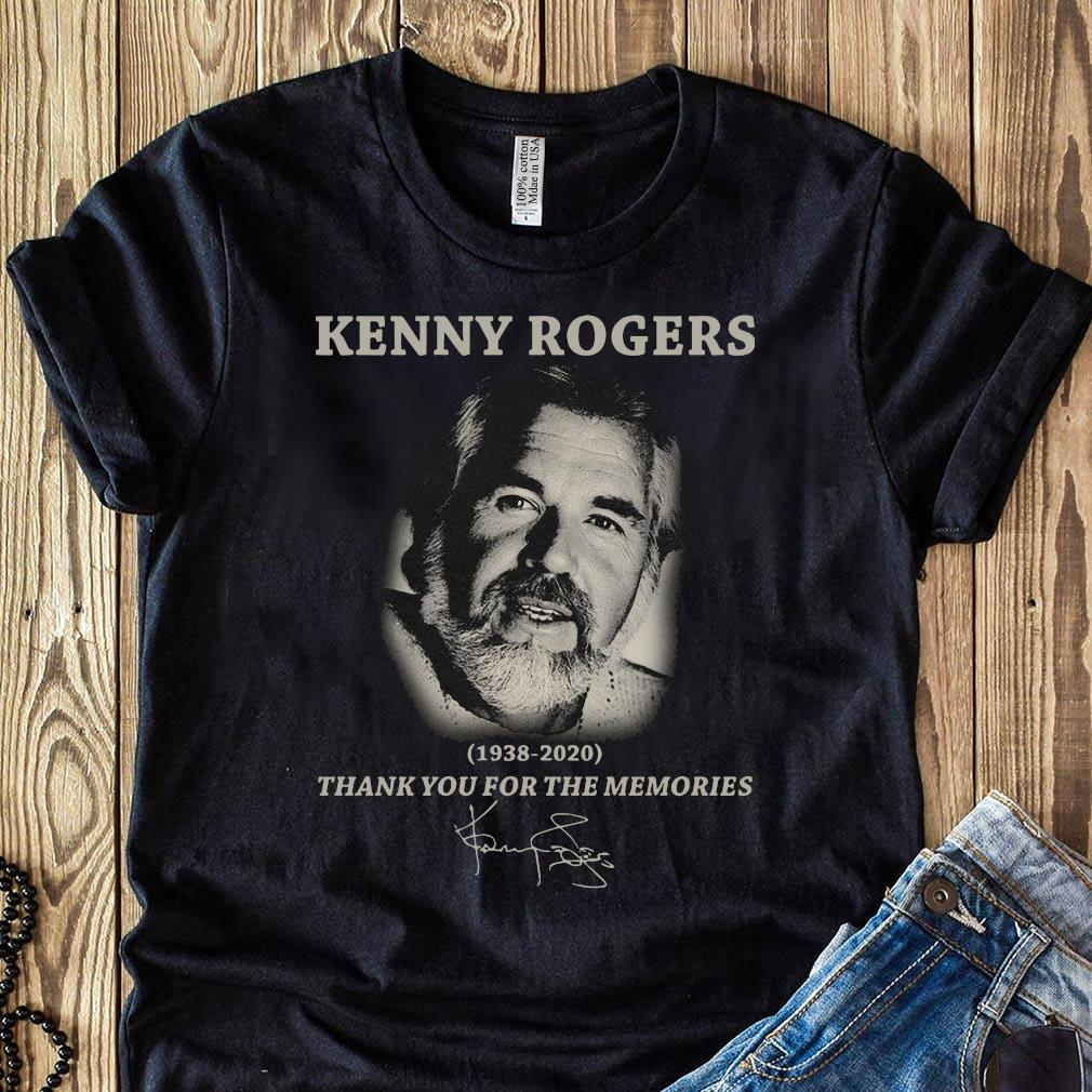 Kenny Rogers Thank You For The Memories Signatures Shirt