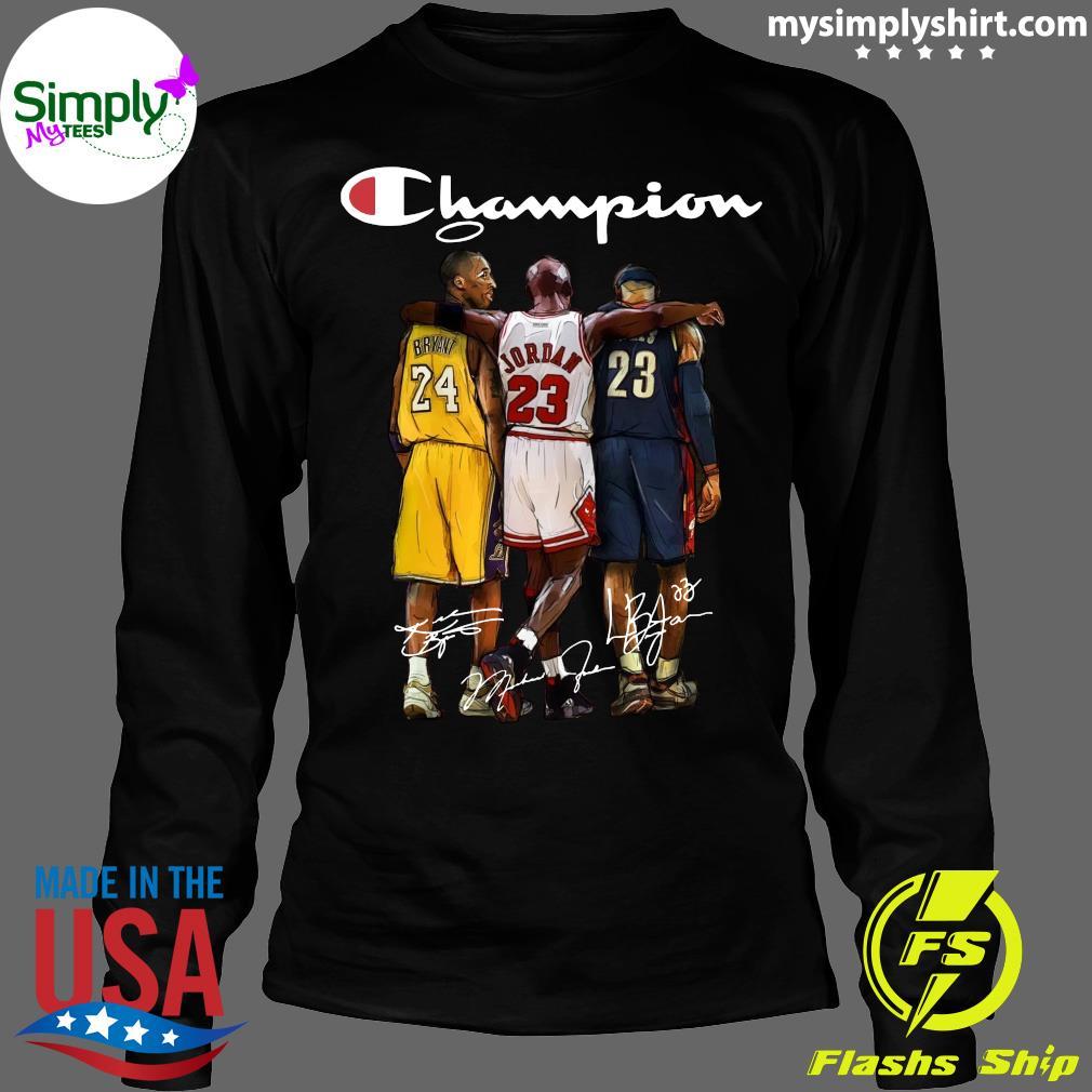 Kobe Bryant 24 Michael Jordan 23 LeBron James 23 Champion Signature Shirt Longsleeve