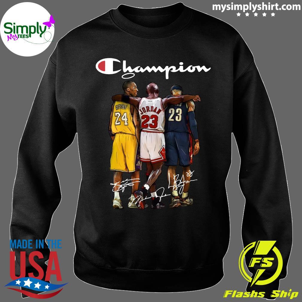 Kobe Bryant 24 Michael Jordan 23 LeBron James 23 Champion Signature Shirt Sweater