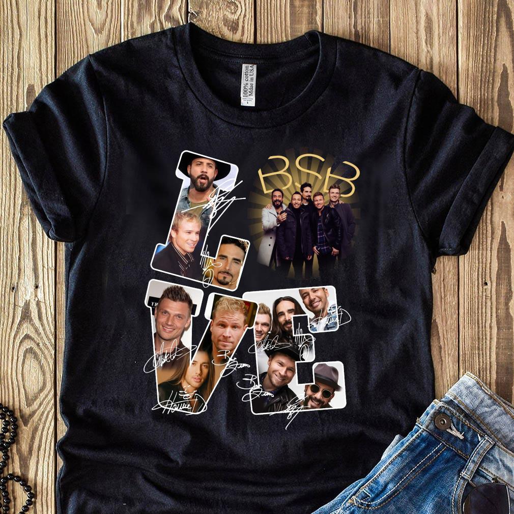 Love BSB Backstreet Boys Signatures Shirt