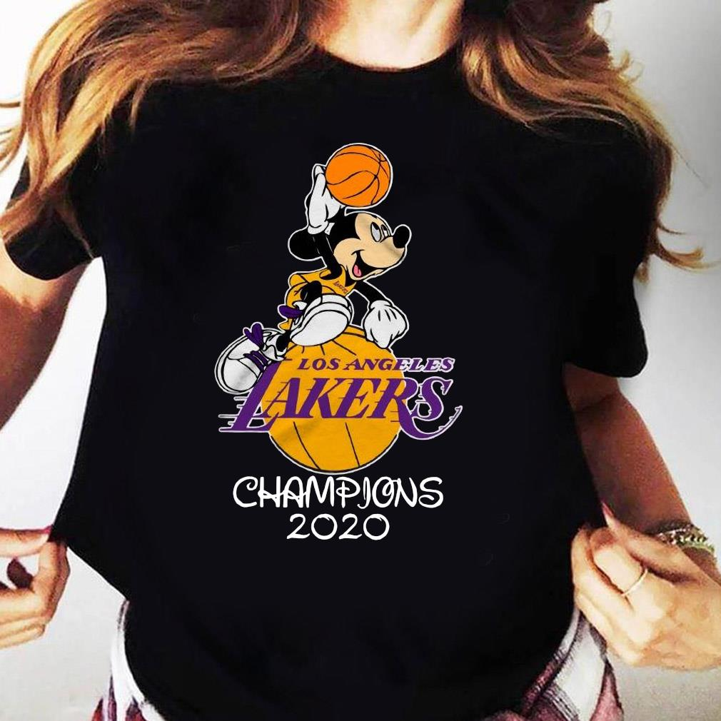 Mickey Mouse Los Angeles Lakers Champions 2020 Shirt Ladies tee