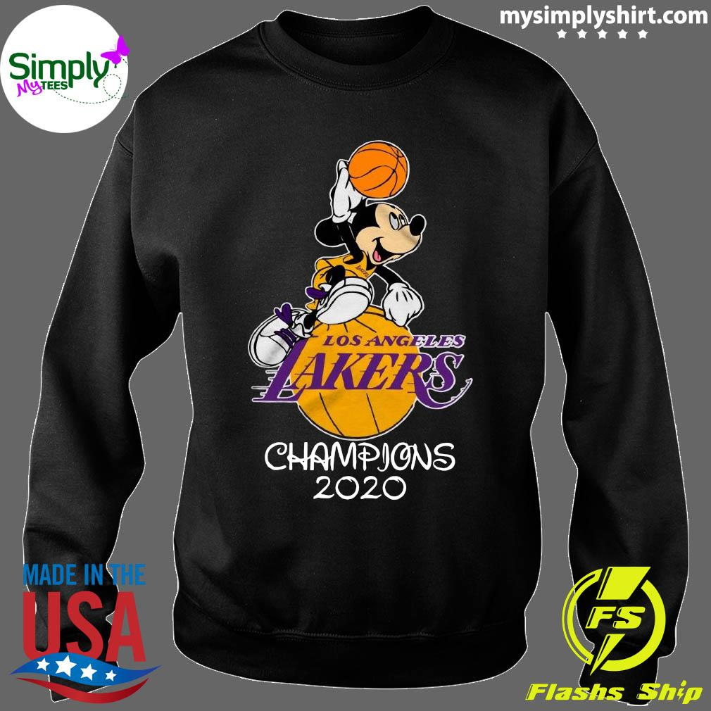 Mickey Mouse Los Angeles Lakers Champions 2020 Shirt Sweater