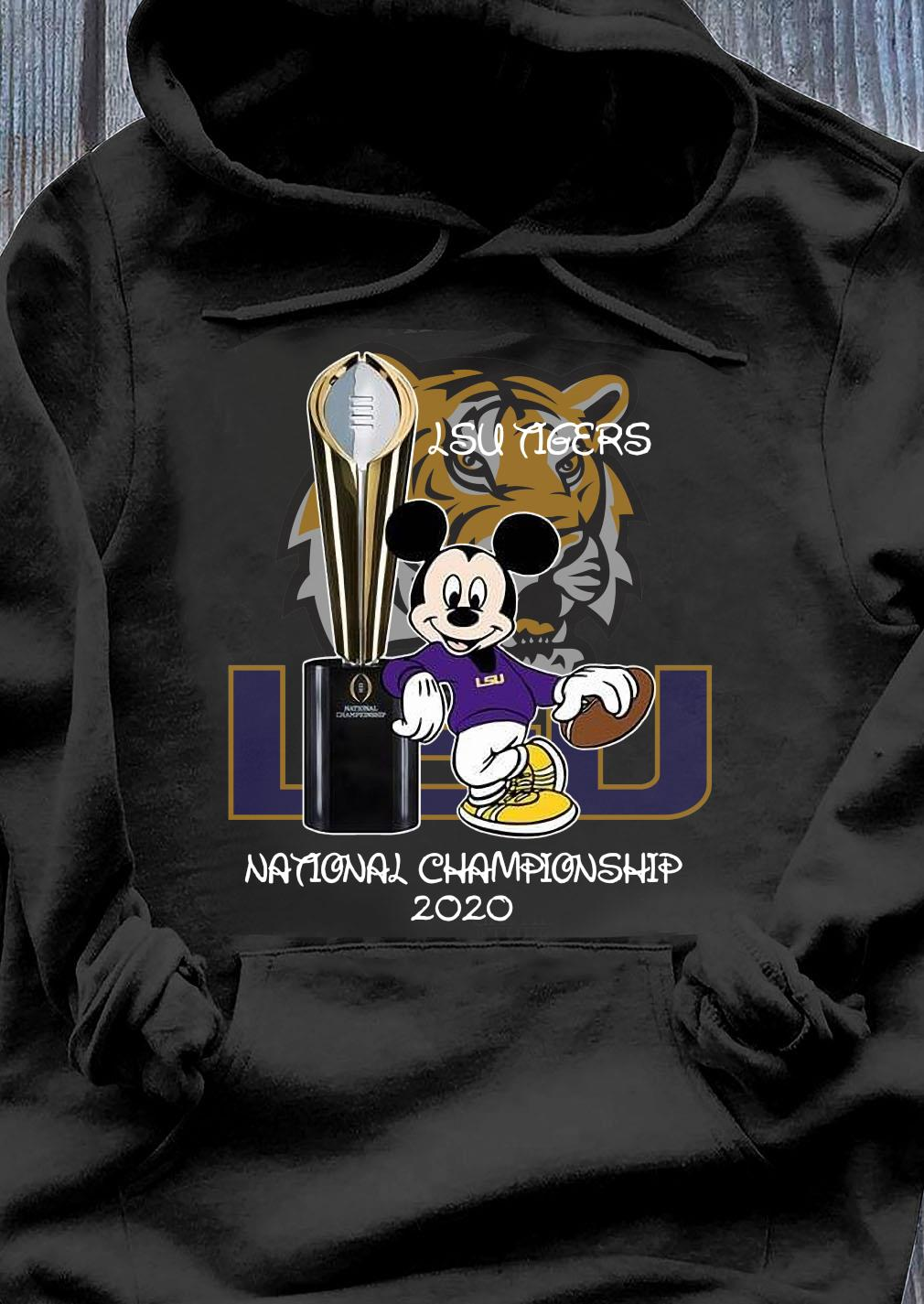 Mickey Mouse Lsu Tigers National Championship 2020 Shirt Hoodie