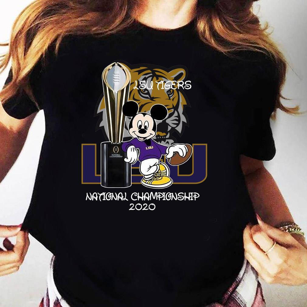 Mickey Mouse Lsu Tigers National Championship 2020 Shirt Ladies tee
