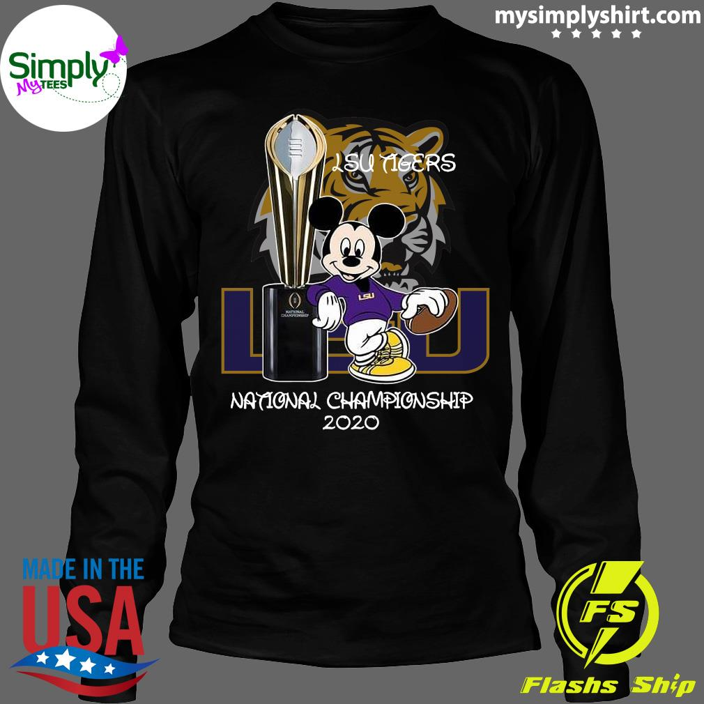 Mickey Mouse Lsu Tigers National Championship 2020 Shirt Longsleeve