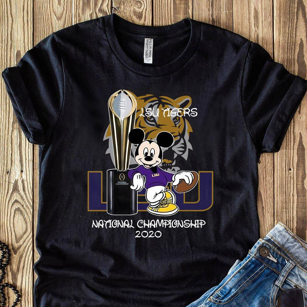 Mickey Mouse Lsu Tigers National Championship 2020 Shirt