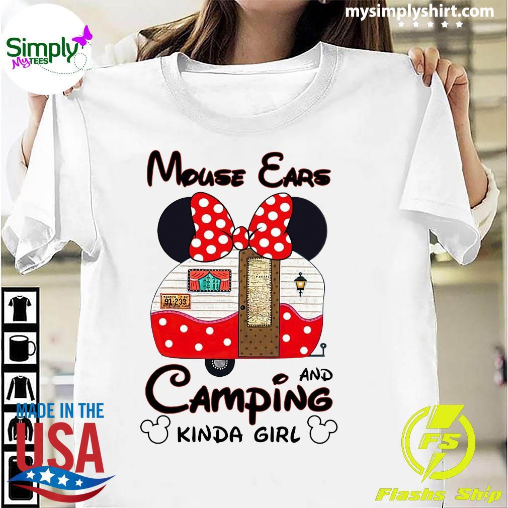 Mouse Cars And Camping Kinda Girl Shirt
