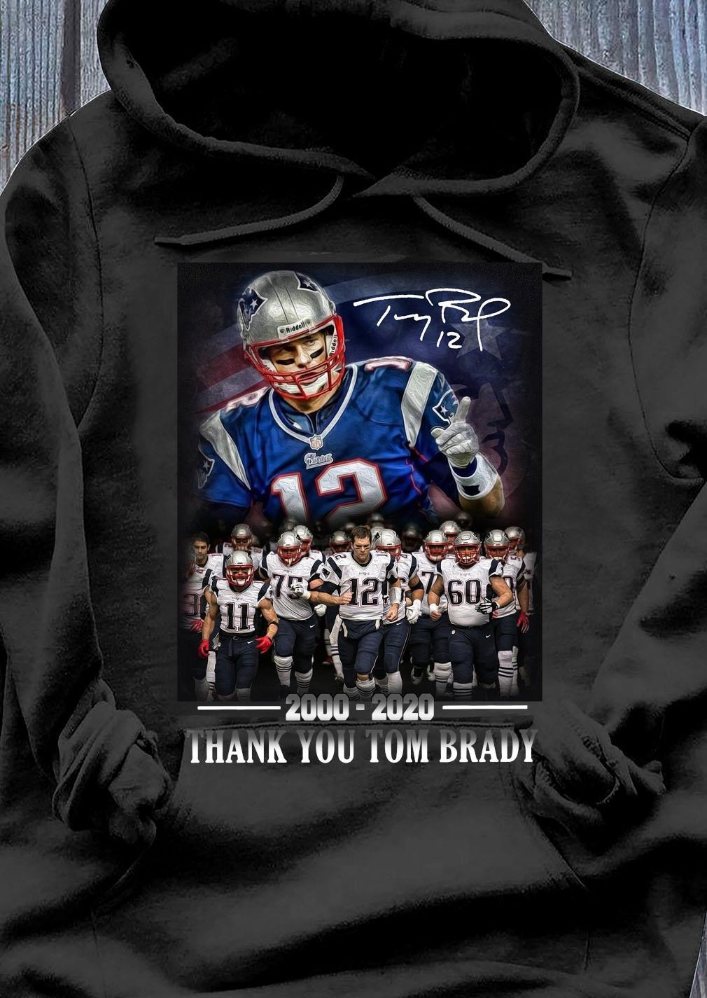 New England Patriots 2000-2020 Thank You Tom Brady Shirt Hoodie