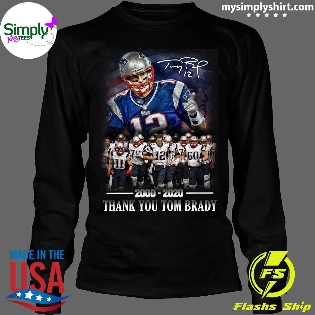 New England Patriots 2000-2020 Thank You Tom Brady Shirt Longsleeve