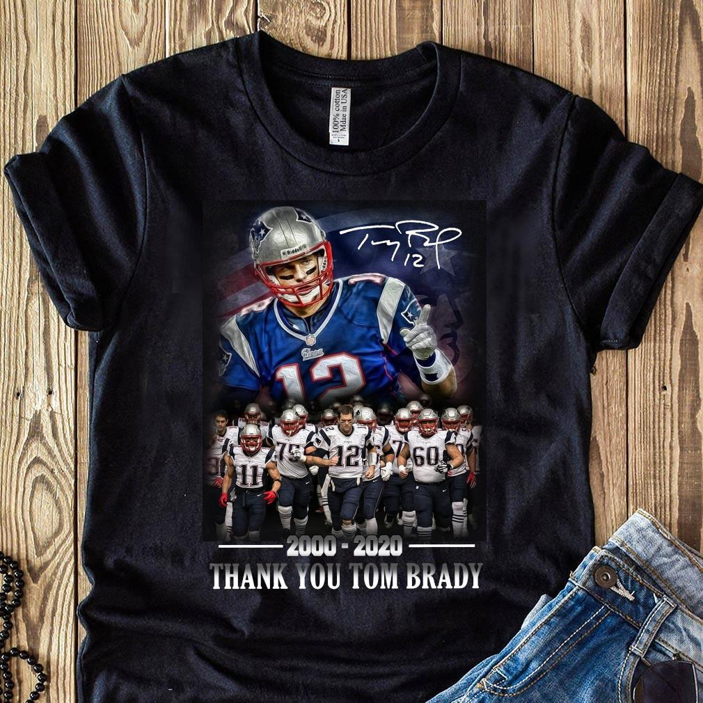 New England Patriots 2000-2020 Thank You Tom Brady Shirt