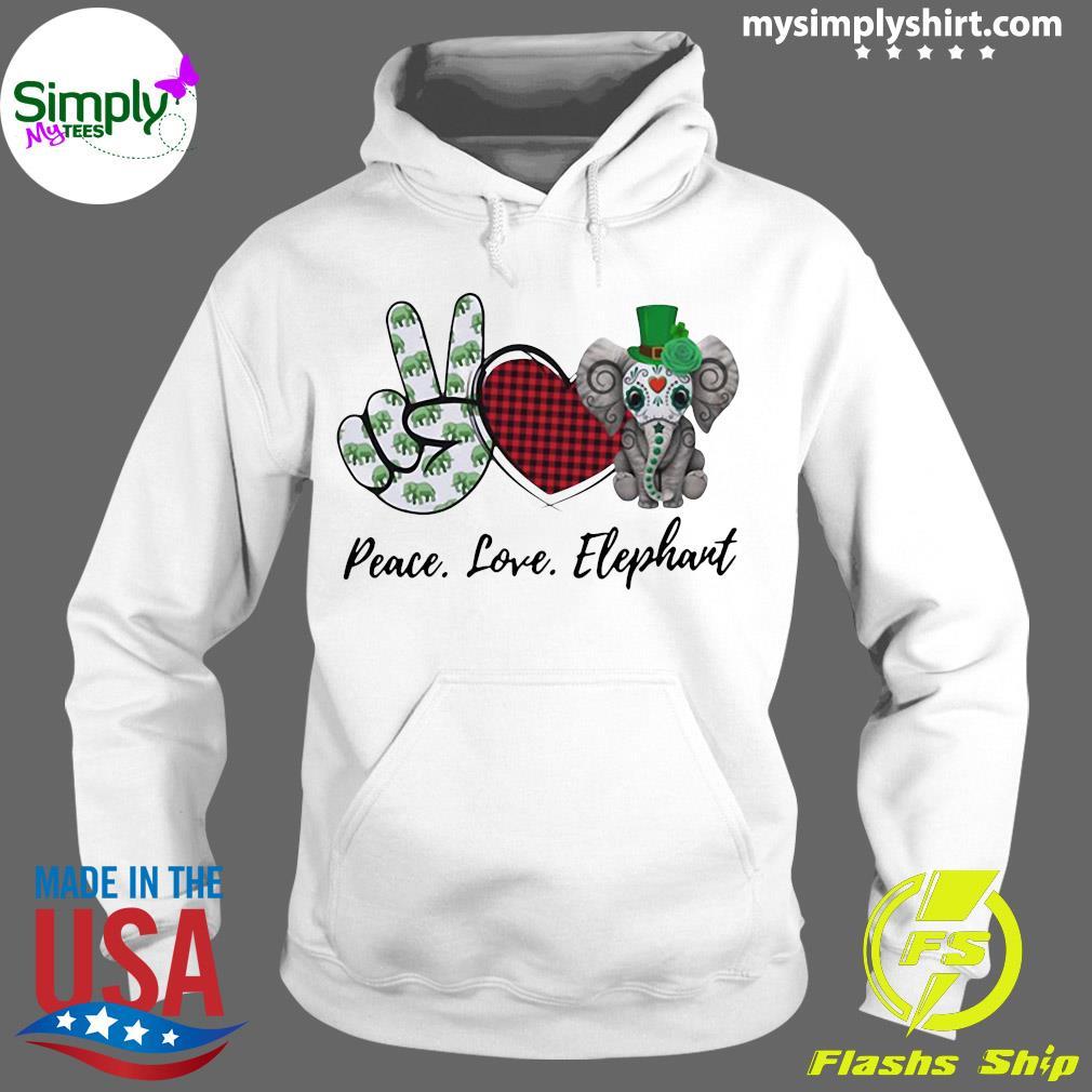 Peace Love Elephant Shirt Hoodie