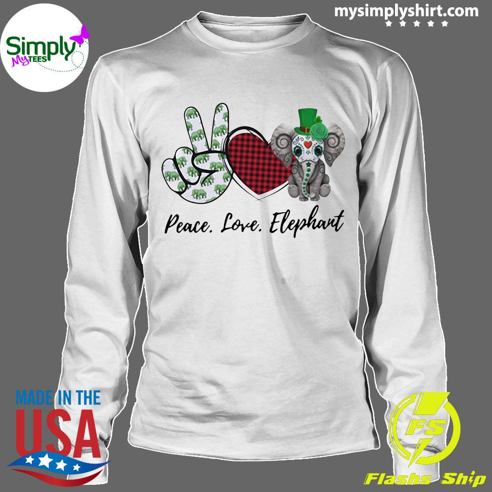 Peace Love Elephant Shirt Longsleeve