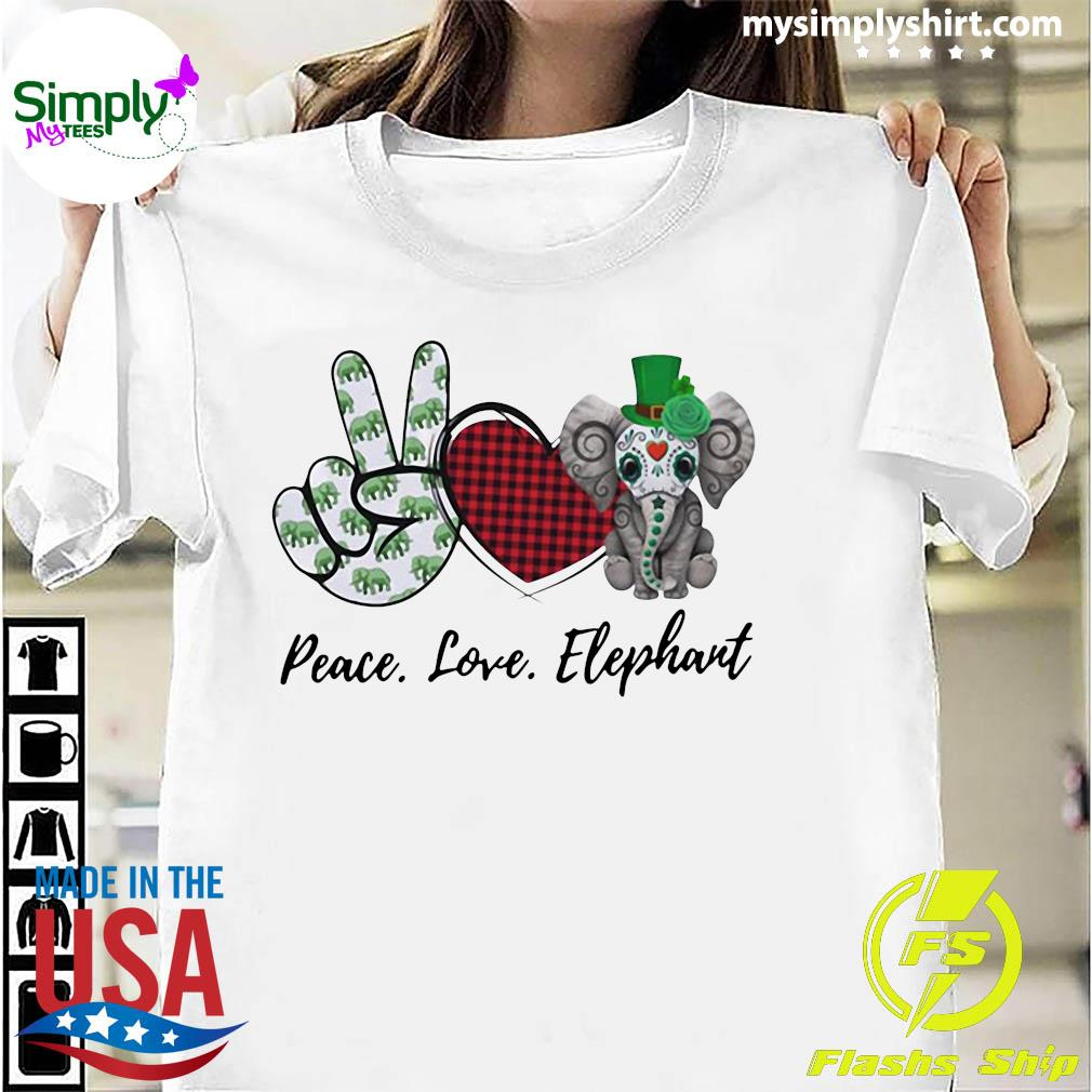 Peace Love Elephant Shirt