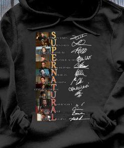 Supernatural Jensen Ackles Lauren Cohan Jared Padalecki Signatures Shirt Hoodie
