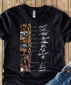 Supernatural Jensen Ackles Lauren Cohan Jared Padalecki Signatures Shirt