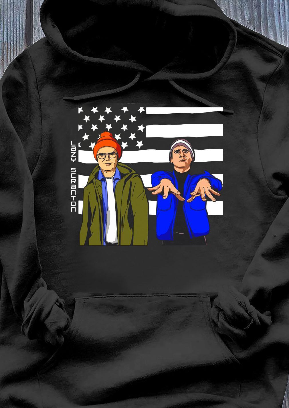 The Office Lazyy Scranton American Flag s Hoodie