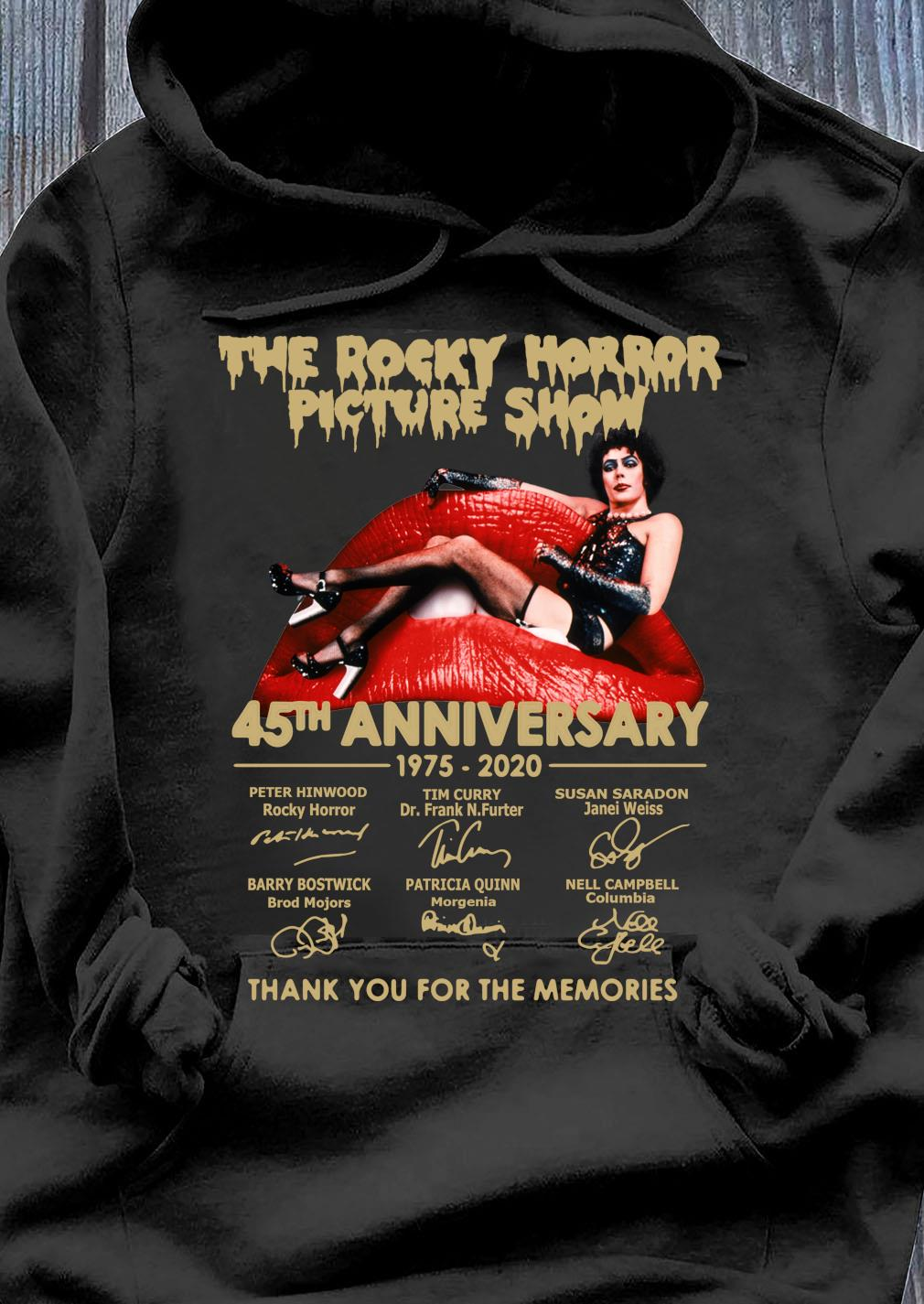The Rocky Horror Picture Show 45th Anniversary 1975 2020 Thank You For The Memories s Hoodie