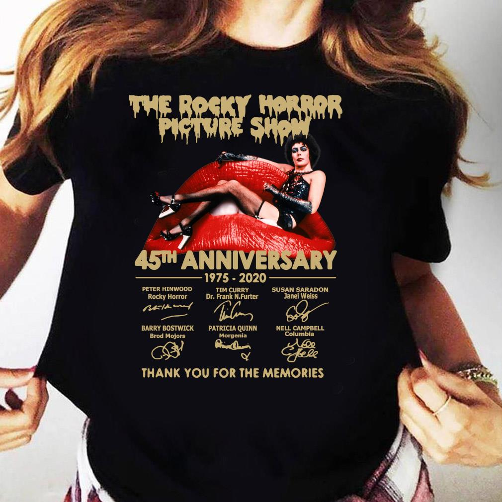 The Rocky Horror Picture Show 45th Anniversary 1975 2020 Thank You For The Memories s Ladies tee
