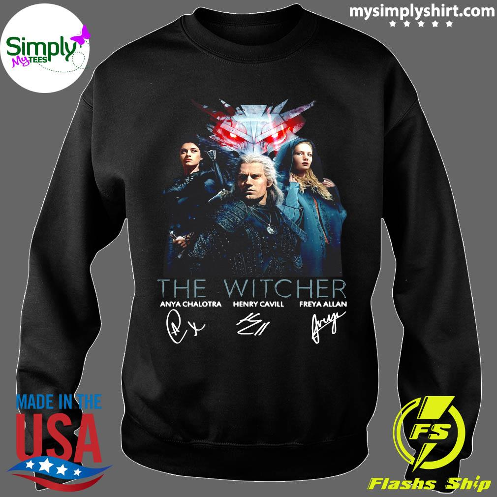 The Witcher Tv Movies Series Anya Chalotra Henry Cavill And Freya Allan Signature Shirt Sweater