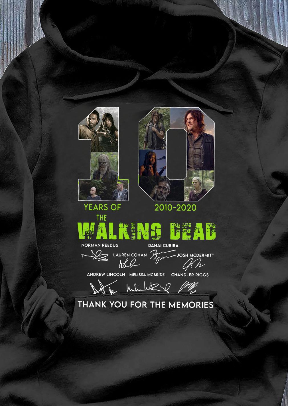 10 Years Of The Walking Dead 2010 2020 Anniversary Shirt Hoodie