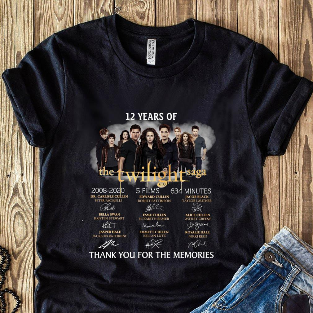 12 Years Of The Twilight Saga 2008 2020 Signature Thank You For The Memories Shirt