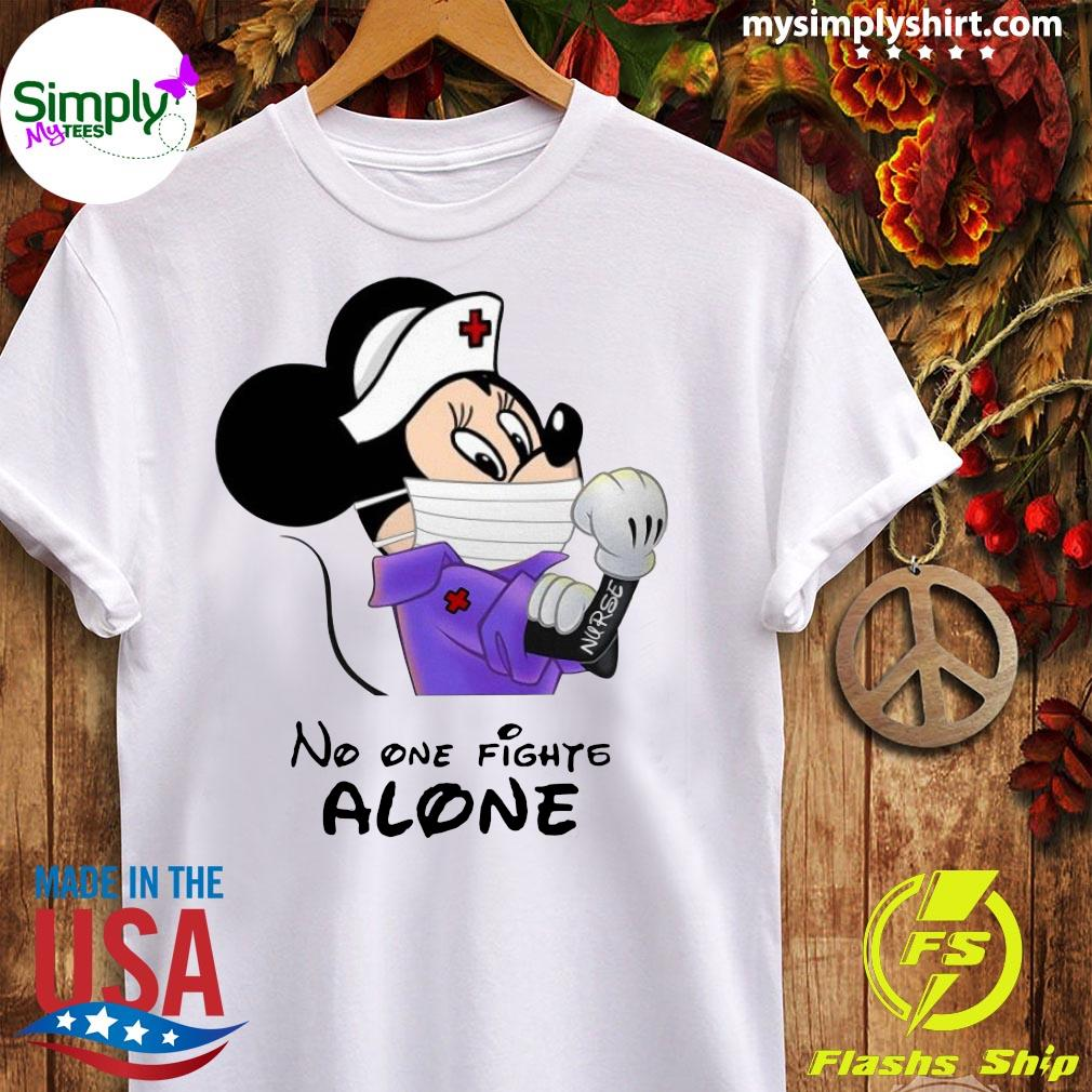 Ladies or big girls mickey and minnie mouse why i never fighting T shirt