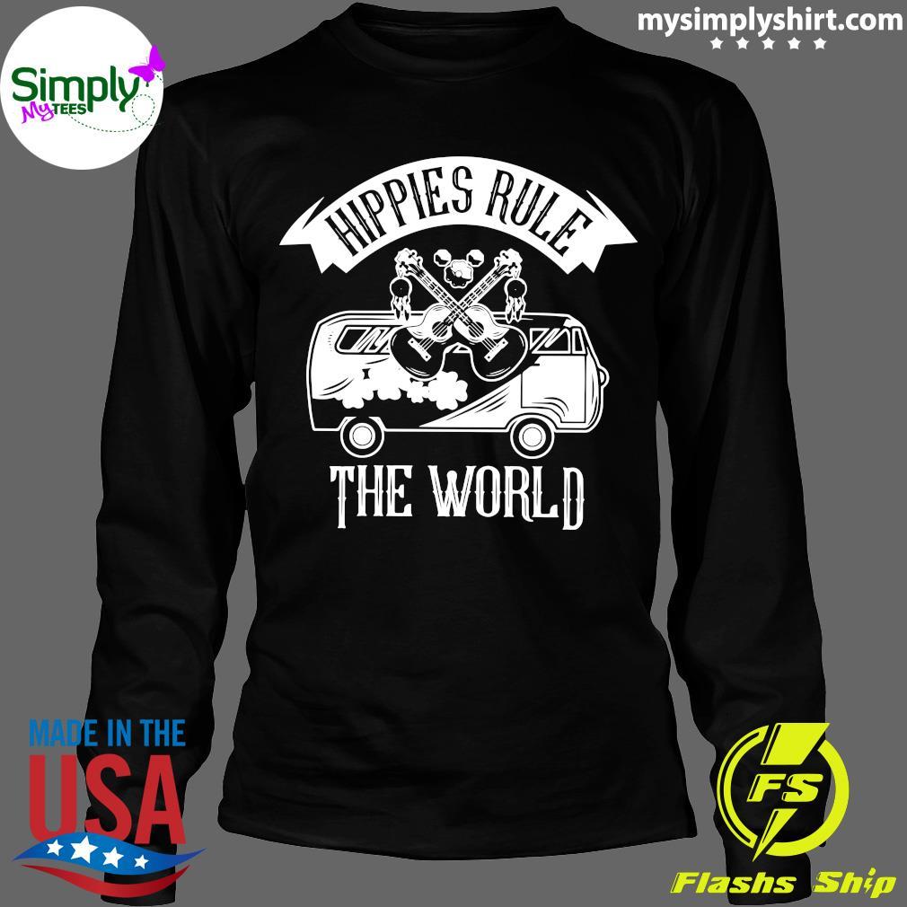 Car And Giutar Hippies Rule The World Shirt Longsleeve