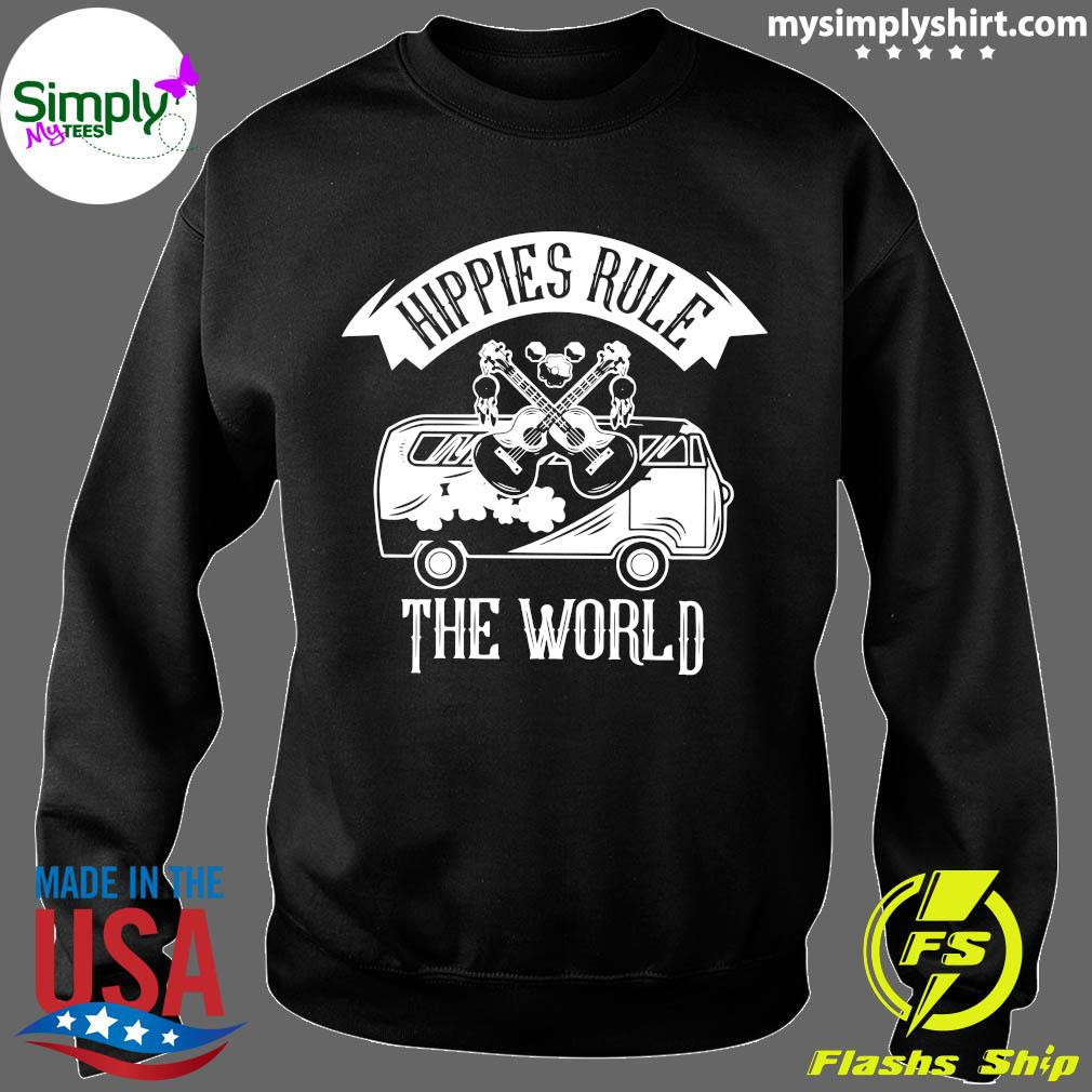 Car And Giutar Hippies Rule The World Shirt Sweater