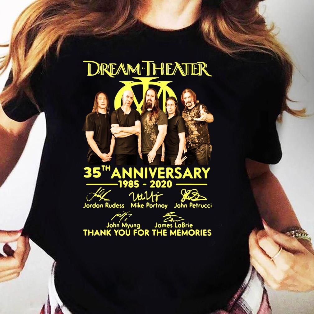 Dream Theater Progressive Metal Band 35th Anniversary 1985-2020 Member Signature Shirt Ladies tee