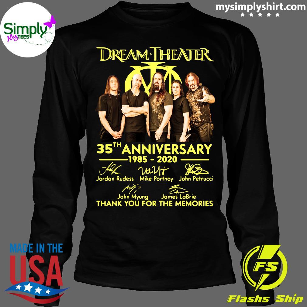 Dream Theater Progressive Metal Band 35th Anniversary 1985-2020 Member Signature Shirt Longsleeve